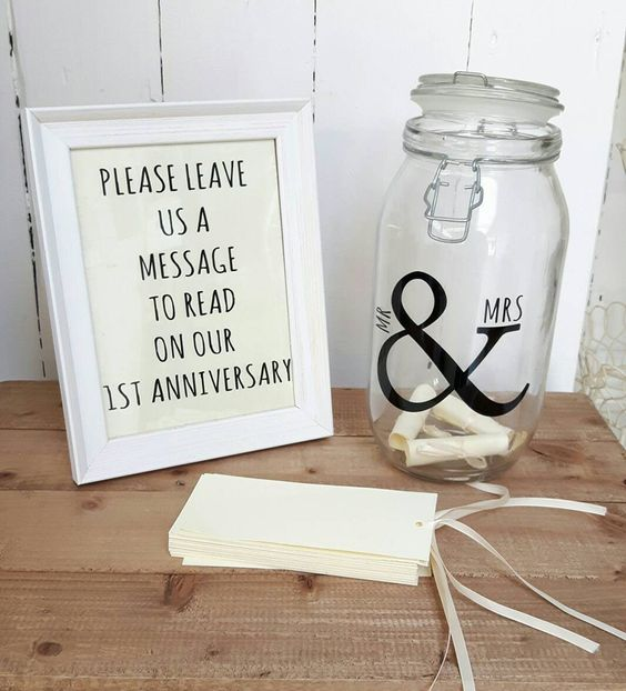 Unique - Message in a bottle wedding guest book ideas