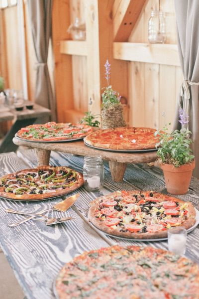 Wedding Pizza bar Ideas