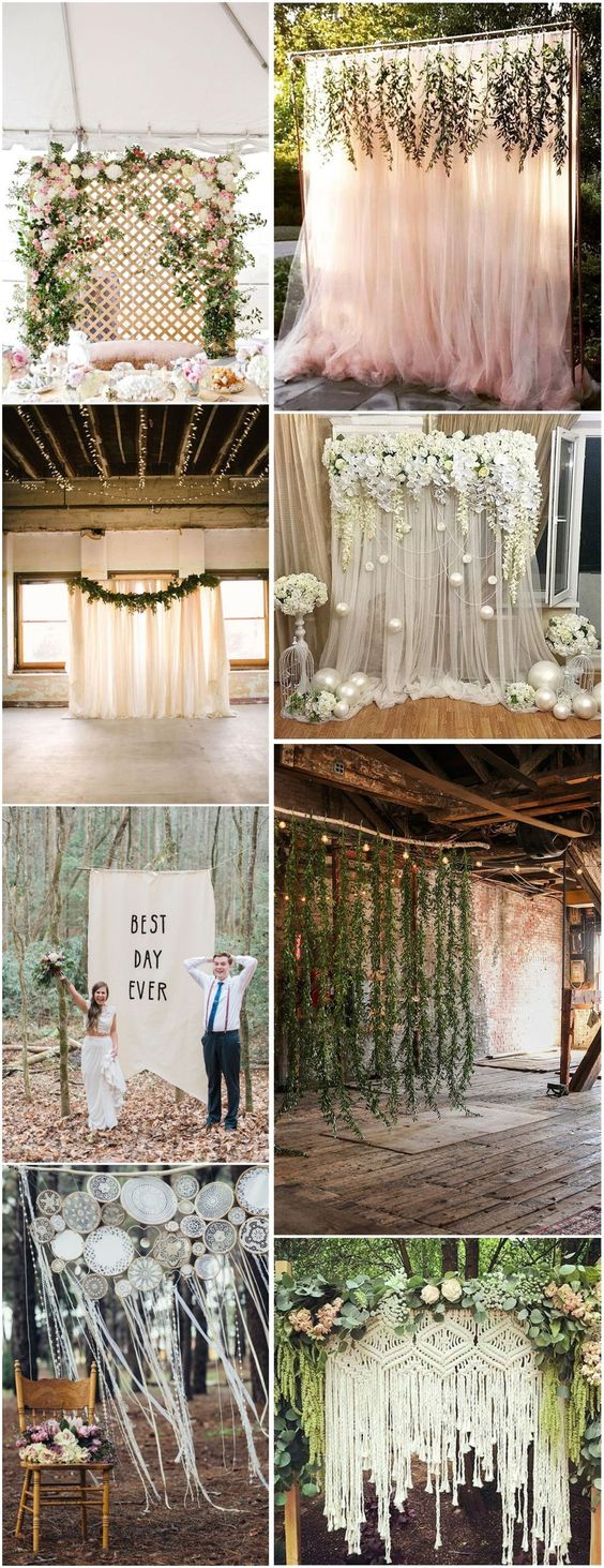 Wedding backdrop ideas for your rustic wedding