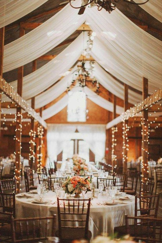 beautiful rustic wedding reception ideas with lights