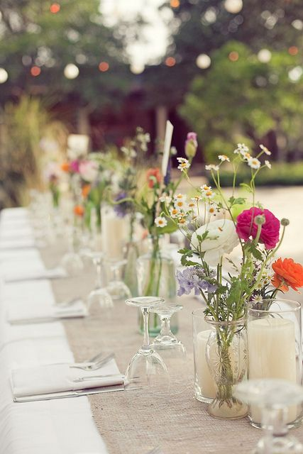 bohemian chic wedding centerpices decoration ideas by Thesimplifiers