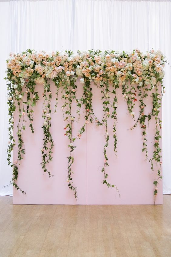 Fl Wedding Backdrop For Indoor