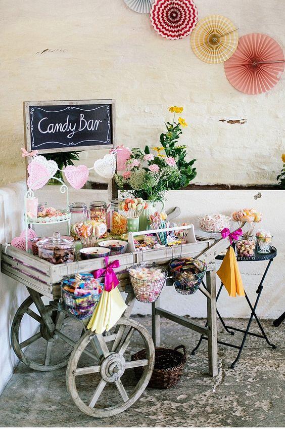 garden candy bar decor ideas
