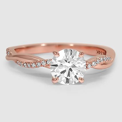 29 Most Popular Rose Gold EngagementWedding Rings Worth Having