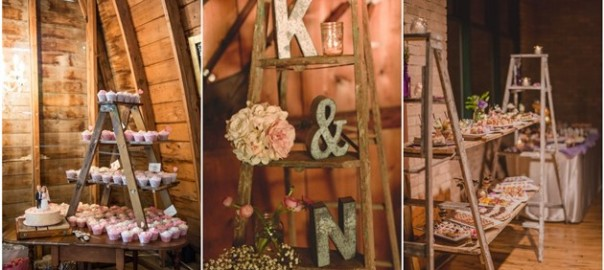 Rustic wedding decorations weddinginclude wedding ideas 22 rustic country wedding decoration ideas with ladders junglespirit