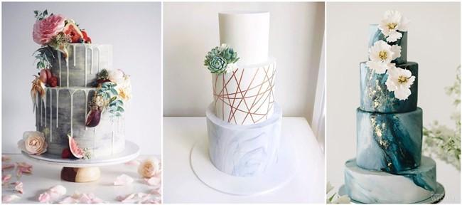 23 unique and elegant marble wedding cake ideas junglespirit Choice Image