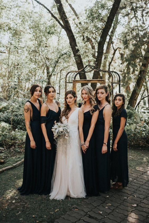 All black Bridesmaid dress Image by Jonnie Garret