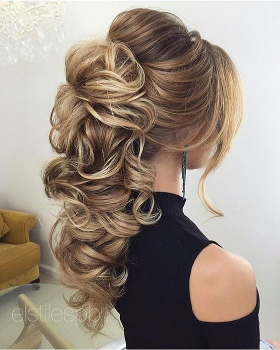up styles for long thick hair 18 creative and unique wedding hairstyles for hair 6938 | Beautiful Bridal hairstyle for long hair to inspire you