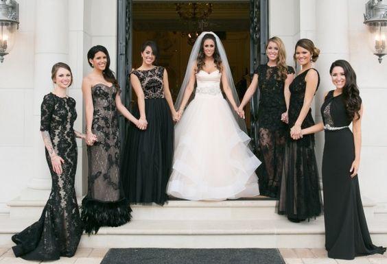 Black Bridesmaid Dresses - Occasio Productions
