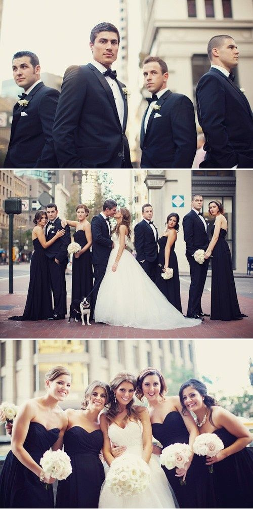 Black bridesmaid and the brides dress ideas
