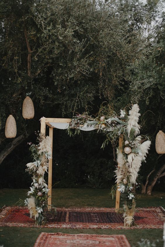 Bohemian Parker Palm Springs Wedding Chuppah