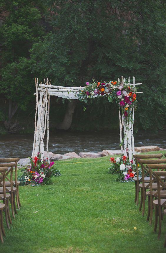 Bohemian wedding chuppahs photo by Harper Point