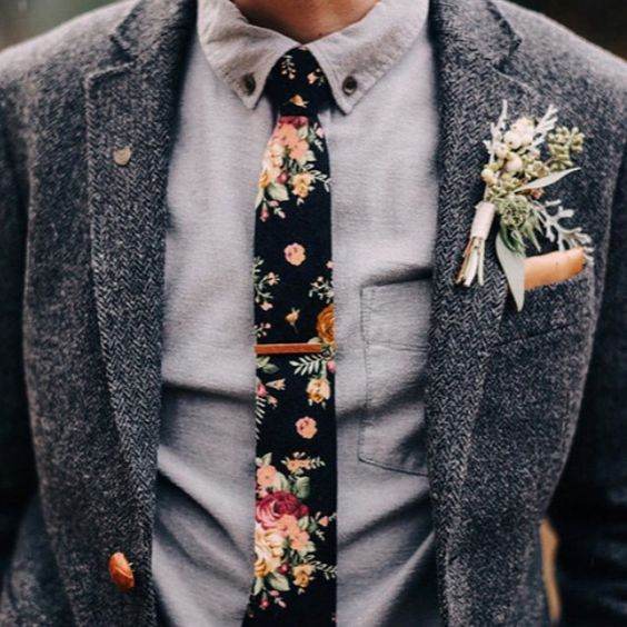 Boho Groom Jacket Tie