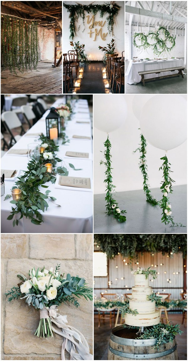 Creative and amazing greenery wedding ideas