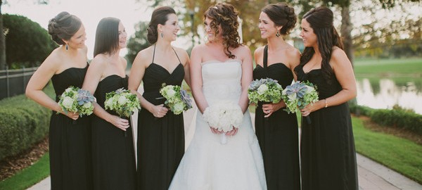 Elegant Black Bridesmaid Dress
