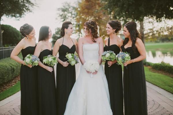 Elegant Black Bridesmaid Dress