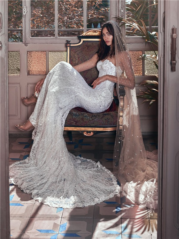 Galia Lahav Wedding Dresses 2018 Victorian Affinity Collection - Inez-and-Stardust-veil