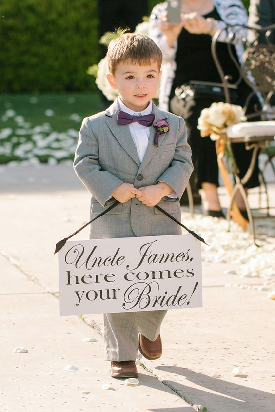 Give your ring bearer a sweet sign