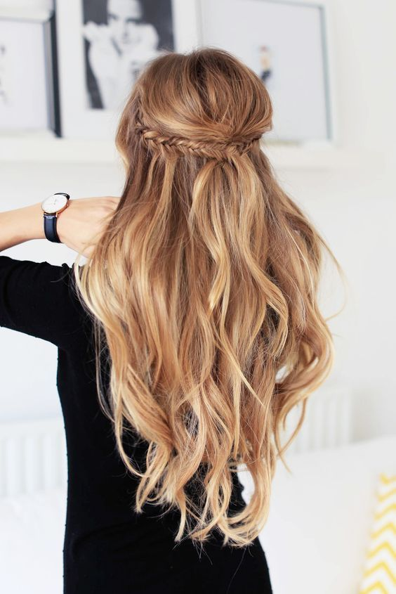 Braided Wedding Hair Loose Curls With Twisted Braid Beyond