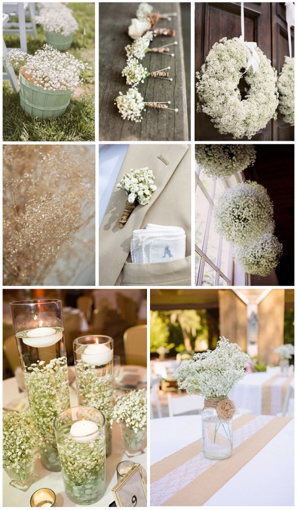 Gorgeous baby's breath wedding decoration ideas for your big day