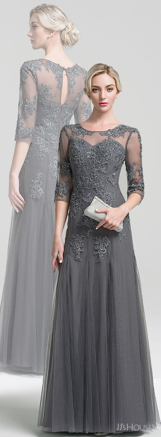 Gray Mother of the Bride outfits