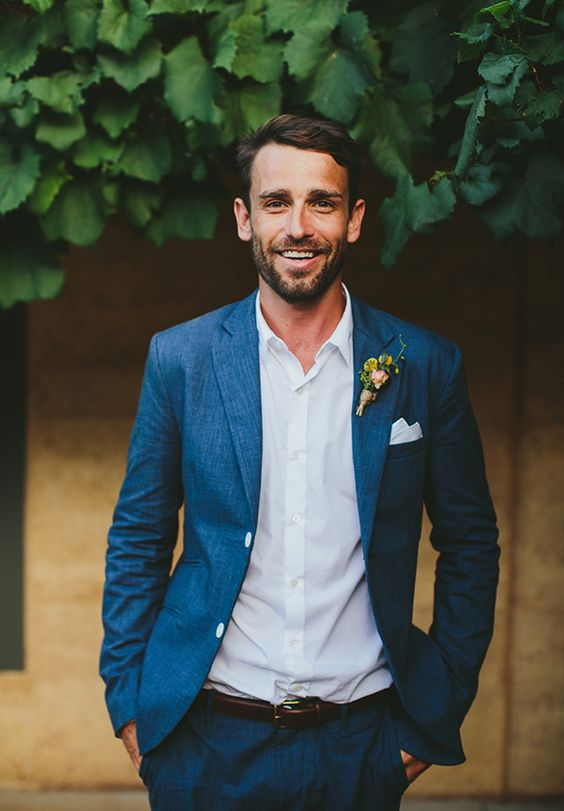Groom Suit In Navy