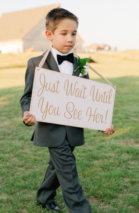 Incredibly Cute Ring Bearer Signs