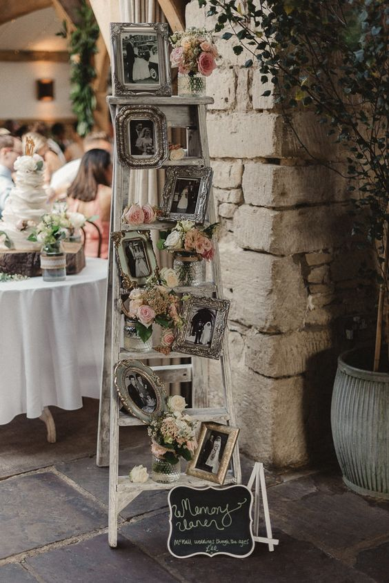 Ladder Decor Family Photographs