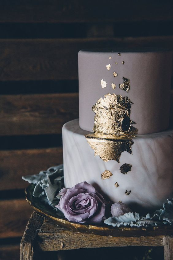 Marbled wedding cake by Ed and Aileen Photography