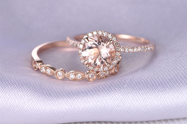 22 most popular rose gold engagementwedding rings worth having - Popular Wedding Rings