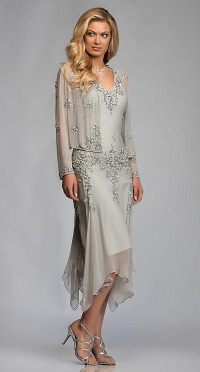 Mother of bride dresses tea length