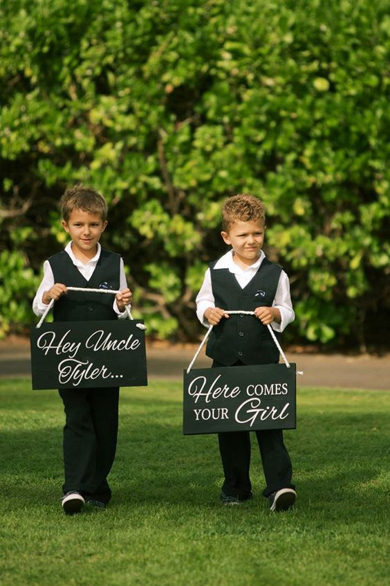 Ring bearer signs - Bliss Wedding Design and Spectacular Events
