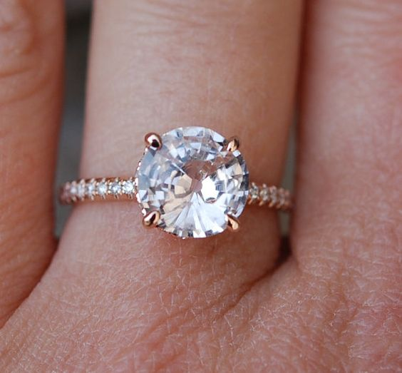 29 Most Popular Rose Gold Engagement Wedding Rings Worth