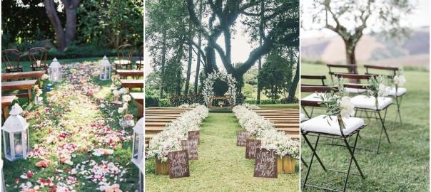 Inspiration Outoor Ceremonies: Rustic Weddings