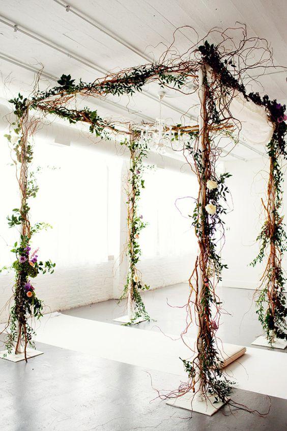Rustic Twig Wedding Arbor