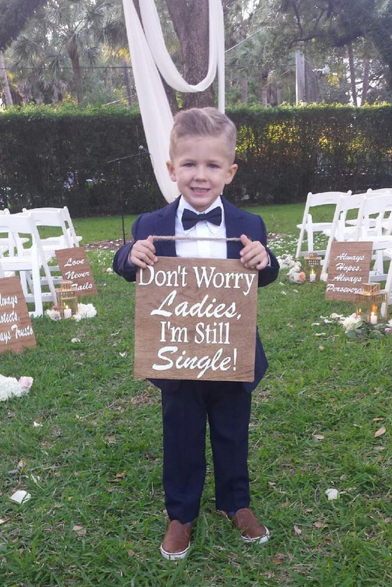 Rustic Wedding Ring Bearer Signs