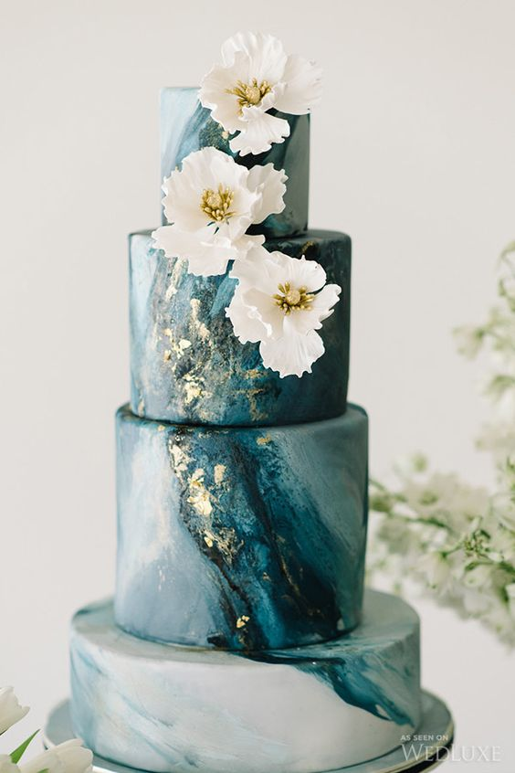 Sleek Marbled Elegance Cake Photography by Tara McMullen