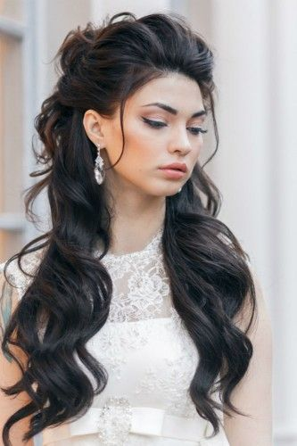 down hair style 18 creative and unique wedding hairstyles for hair 9051 | Stunning half up half down wedding hairstyle