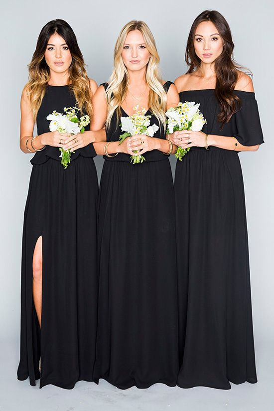 The Mumu Black Bridesmaid Dresses Wedding Collection