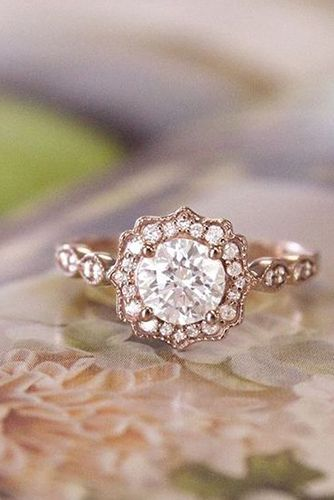 vintage rose gold engagement rings - Rose Wedding Rings