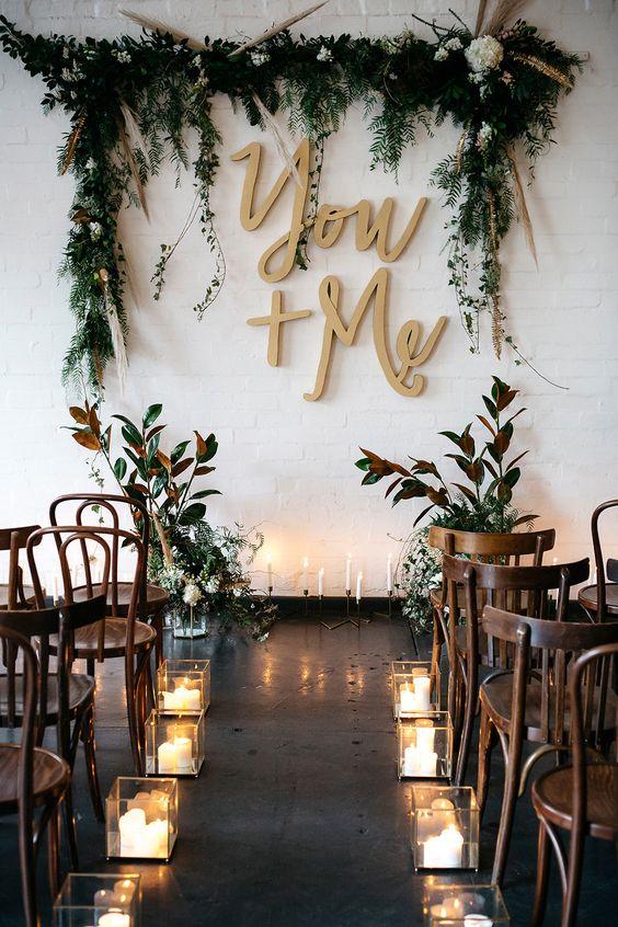 Rustic Outdoor Wedding Ceremony Decorations Ideas