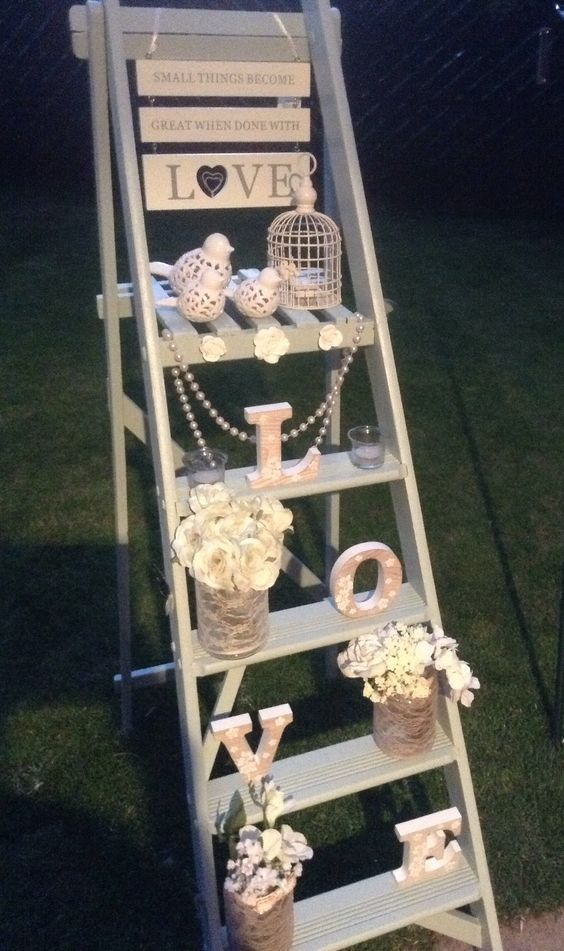 Wedding ladder Statement piece Available to hire