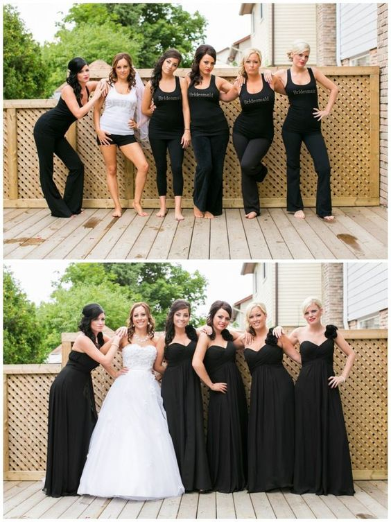 Fall Wedding With Black Bridesmaid Dresses : Bridesmaid dresses black max