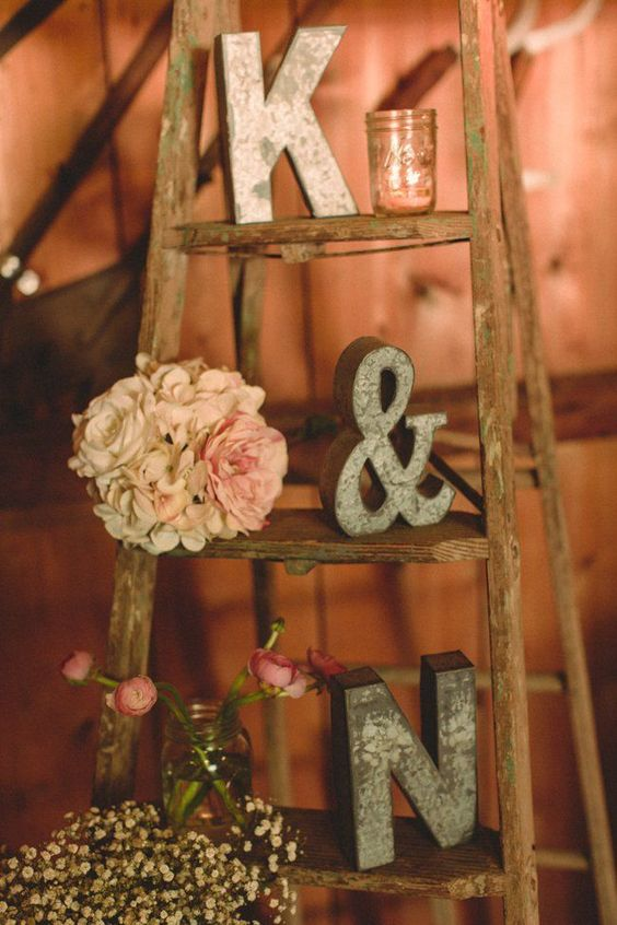 fall barn wedding ideas with Vintage Latter