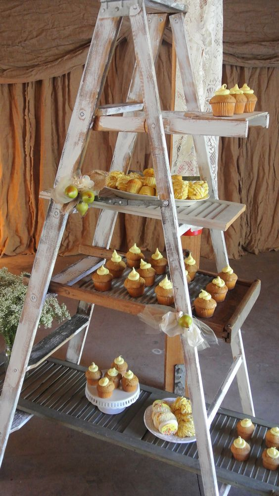 use the ladder for other food or decor
