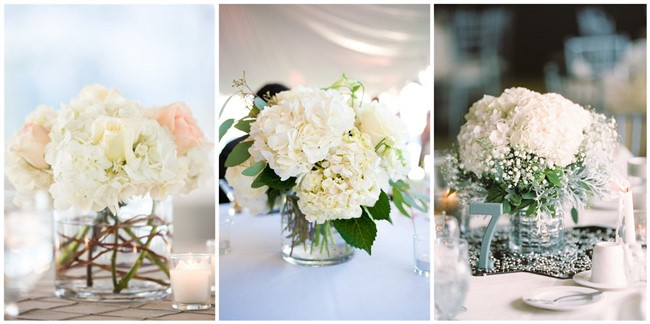 21 simple yet rustic diy hydrangea wedding centerpieces ideas junglespirit Images