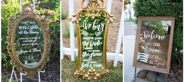 27 Mirror Wedding Sign Decoration Ideas