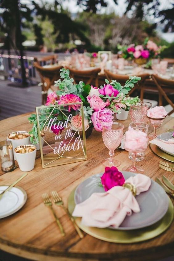 A beautiful pink and gold outdoor San Diego wedding