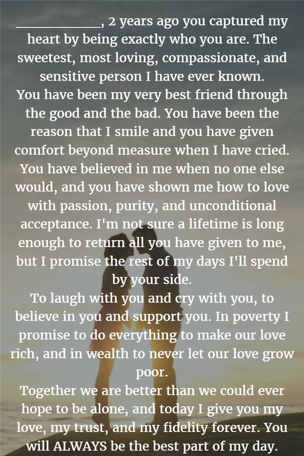 Best Part of My Day Wedding Vows For Her and Him