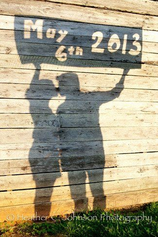 Cardboard Cut Out Shadow Save The Date Photo Idea